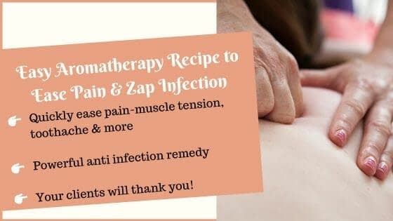 Essential oils for pain and infection